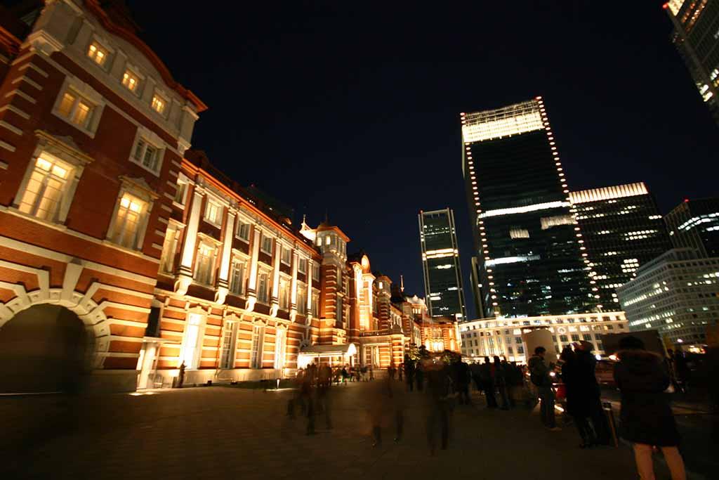 東京駅ライトアップ01